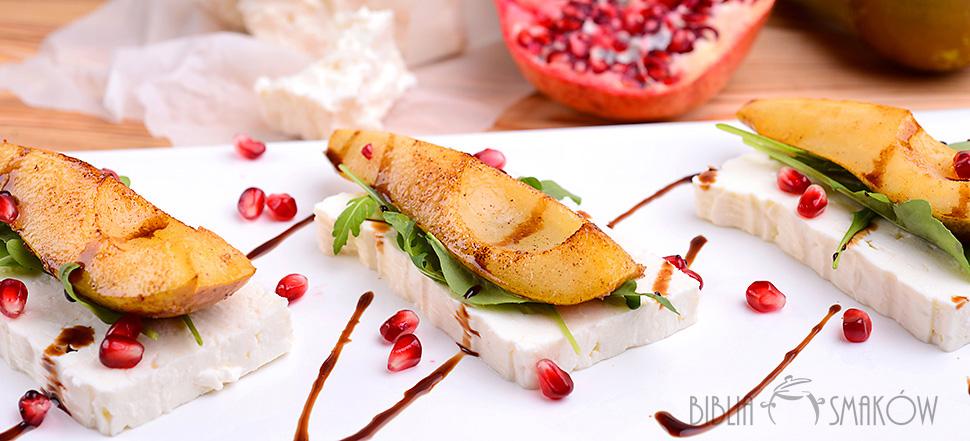 lombardo quartirolo z karmelizowaną gruszką
