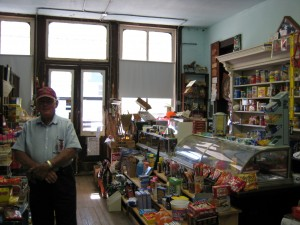 Country Store--Inside View--Lee Gildow, elder at Crum Ridge