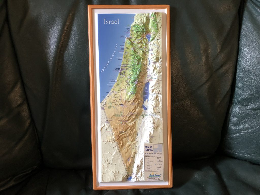 This Is A Raised Topography Map Of The Entire Country Of