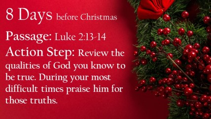 Best Christmas Devotional Ever.Day 8 Christmas Countdown Devotional The Angels Praising