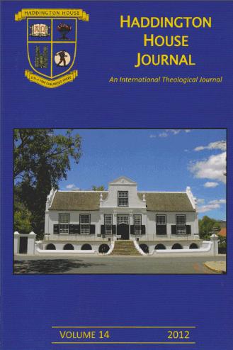 Haddington House Journal volume 14 online 1