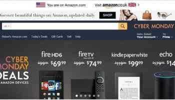 Cyber Monday on Amazon