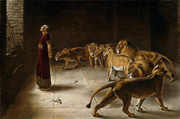 Daniel in the Lions' Den by Briton Rivière (1890)