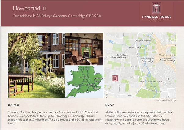 How to Find Tyndale House