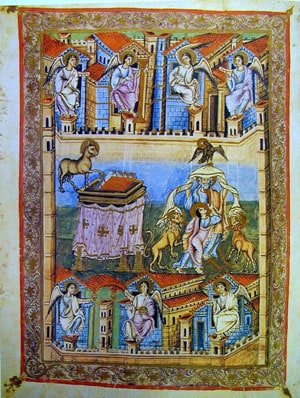 Frontispiece, Book of Revelation, Bible of San Paolo fuori le Mura, 9th century