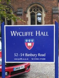 Wycliffe Hall Sign