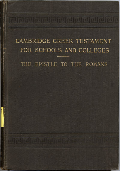 Reginald St. John Parry [1858-1935], The Epistle of Paul the Apostle to the Romans