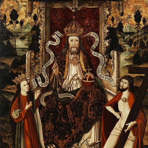God the Father on his throne, Westphalia, Germany, late 15th century.