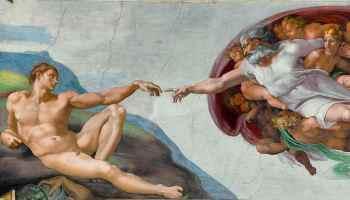 Michelangelo - Creation of Adam (cropped)