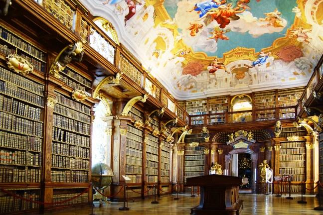 Monastery Library in Melk Abbey
