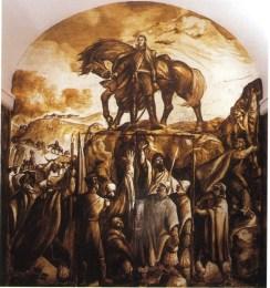 Pinturas murales alegóricas_El General San Martín-Panel 9 segunda