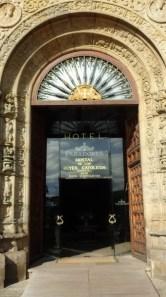 The front door of the Hostel de los Reis Catolicos (the Parador in Santiago).