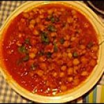 An Indian Feast, continued: Chickpea and Tomato Curry
