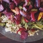 Read: New Zealand cooking + Lemon barley, roast broccoli, beetroot and clementinesalad