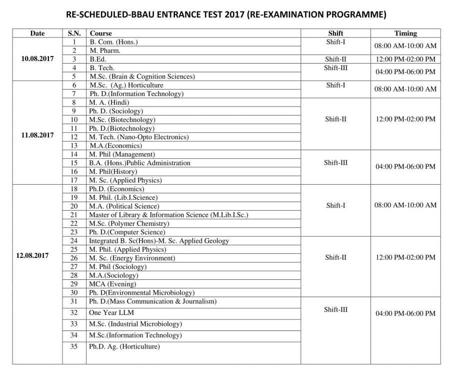 Schedule-Re-Examination-BBAU-1