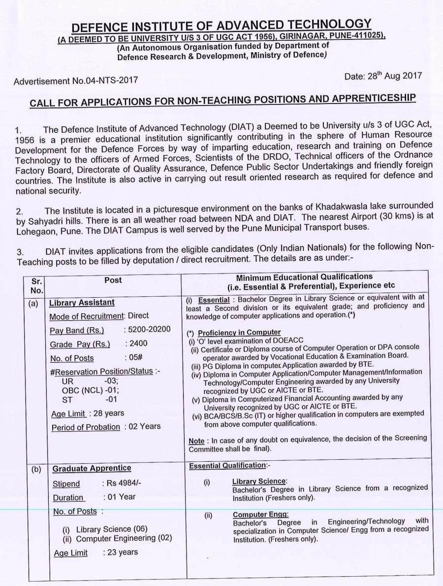 Recruitment for Library Assistant & Graduate Apprenticeship