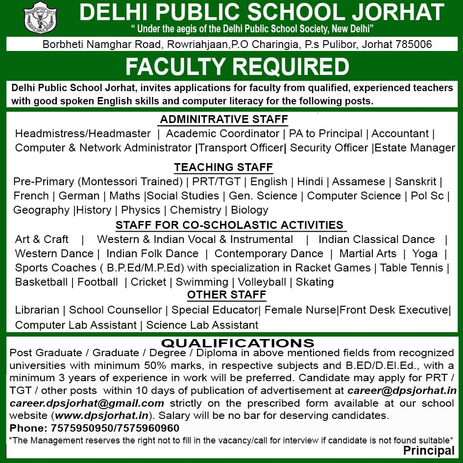Recruitment for Teaching & Non Teaching Posts (Including Librarian ...