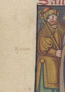 This is an image of fol. 101v from Free Library of Philadelphia Lewis E 107, Book of Hours, Use of Rome (Flanders, 1500 - 1525).