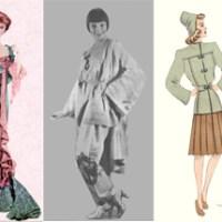 Riviste di moda italiane della prima metà del 1900 a testo pieno