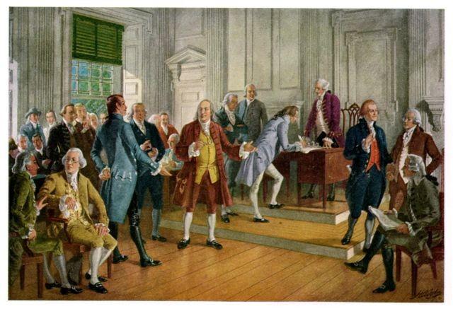 4 luglio 1776: Dichiarazione di indipendenza degli Stati Uniti