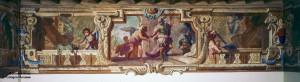 Sala ariostesca-Orlando che scopre scritte damore di Angelica e Medoro
