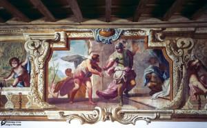 Sala ariostesca-Orlando che scopre scritte damore di Angelica e Medoro particolare