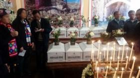 Caso Santa Bárbara. Entrega de restos a los familiares en la Casa Comunal de la Ciudad de Huancavelica.