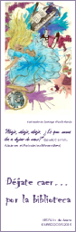 """Marcapáginas regalado a los alumnos de 1º ESO en su """"visita guiada"""" a la biblioteca"""