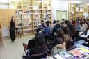 Magda Labarga en la biblioteca, 23 marzo 2017