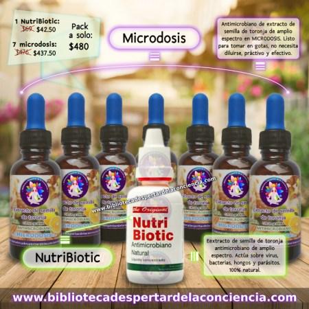 7 microdosis y 1 NutriBiotic