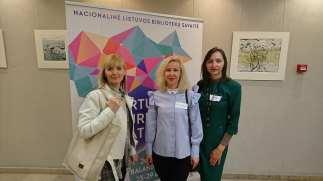 EIF bibliotekos vedėja Natalja Daškevič, EKF bibliotekos vedėja Kristina Blaževičienė, SPF bibliotekos vedėja Renata Markauskienė