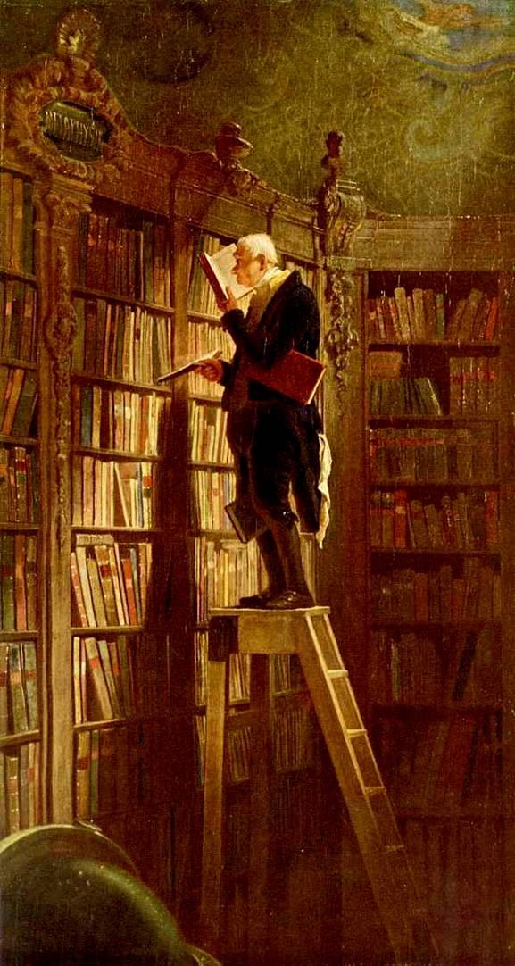 """Karl Şpitsveq. """"Kitab qurdu"""""""