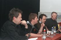 Fra en debatt om fildeling på Drammensbiblioteket i 2009