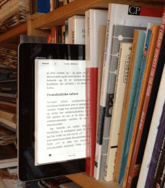 e-bok i hylle