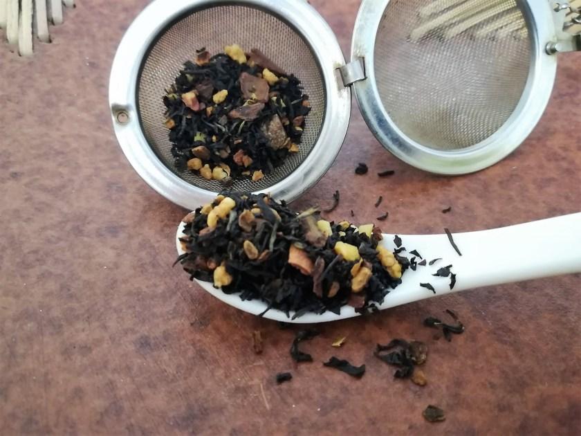 miscela tè nero ai fiocchi di riso