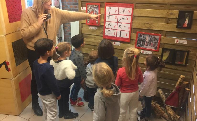 Expo Chaperon rouge – Visite de la classe maternelle de Fouron-le-Comte