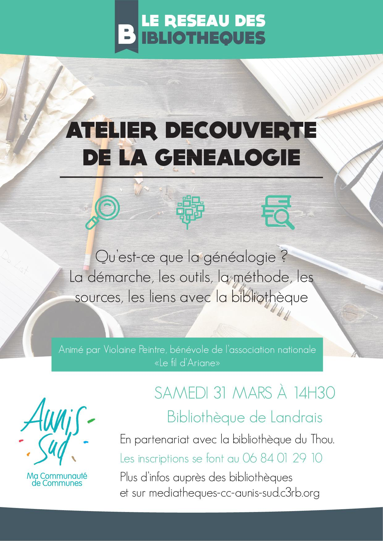 Le Fil D Ariane Généalogie : ariane, généalogie, Atelier, Découverte, Généalogie, Bibliothèque, Thou-lire