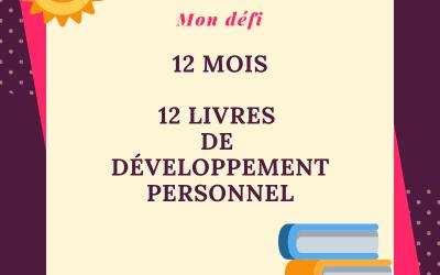 12 mois, 12 livres de développement personnel : mon défi