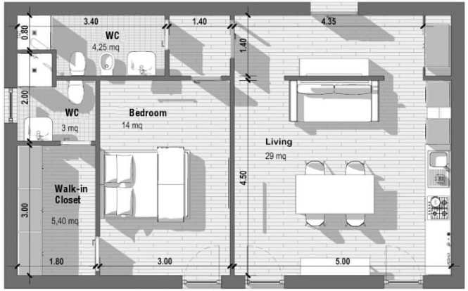 1 Bedroom Apartment Floor Plans With Standards And Examples