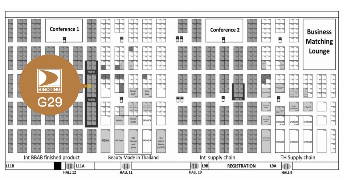泰國展會,地圖