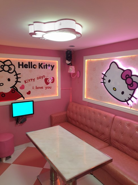 salle karoké Hello Kitty au restaurant Dao