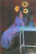 C. Monet- Portrait of Suzanne Hoschede with Sunflowers