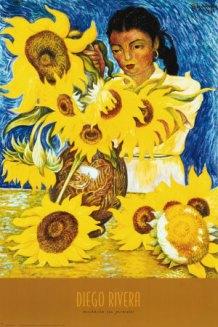 Diego Rivera-Muchacha con Girasoles