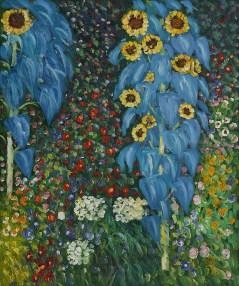 Gustav Klimt- Farm Garden with Sunflowers (1913)