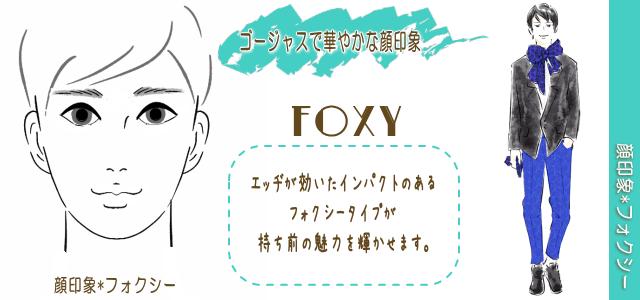 男性の顔印象フォクシー