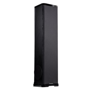 Acoustech PL-980 Left & Right - 750W 3-Way Tower Speaker 3/4 view with cover