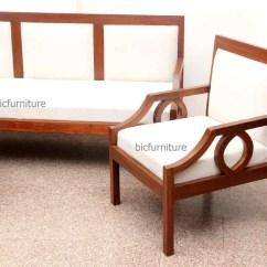 Design Of Wood Sofa Set Dwr Tuck Sleeper Sleek Wooden With Fixed Cushion Handmade Teak Furniture Home Range Sofas