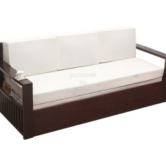 Wooden Sofa Bed Liquidation Sale With Storage Wood And
