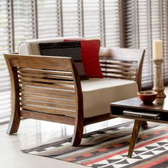 Living Room Furniture Wood Light Grey With Brown Ws 90 Comfortable Wooden Sofa Set Seater Details Bic India