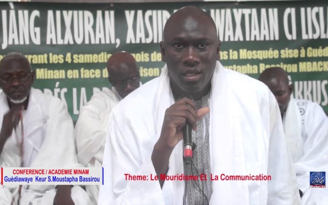 Conférence Académie Miname keur S  Moustapha Bassirou | Théme : Le Mouridisme Et La communication